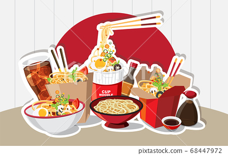 Chinese food, Japanese Ramen On A Bowl , Noodle 68447972