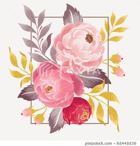 Vector illustration of a floral frame in spring 68448836