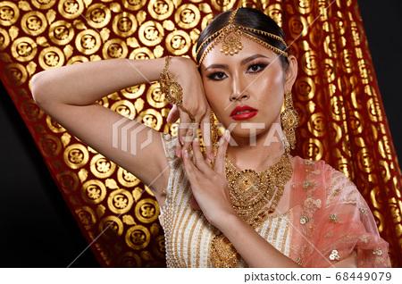India Traditional costume Wedding bride dress on 68449079