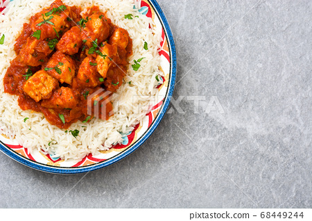chicken, curry, rice 68449244