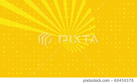 Background with pulsating white circles and sun on yellow background 68450378