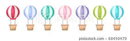 Collection of cute cartoon baby's air balloons 68450470