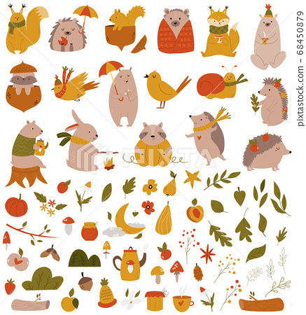 Big set with forest animals and coleection of 68450879