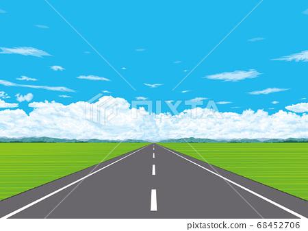 通往廣闊郊區的直路 68452706