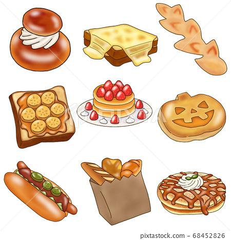 과자 빵 세트 68452826