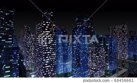 城市夜城建築建築物市政廳建築商務區辦公區3d圖背景回 68456661