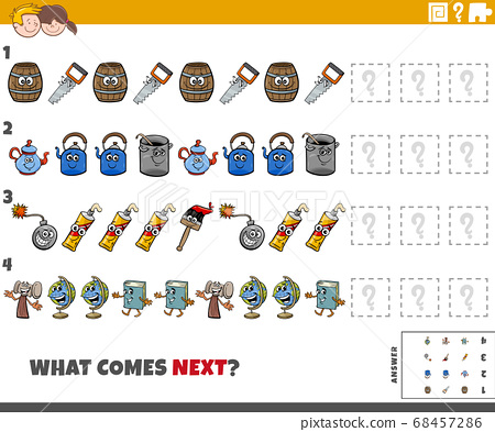 educational pattern task for kids with cartoon 68457286