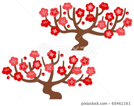 Illustration set of plum tree 68462161