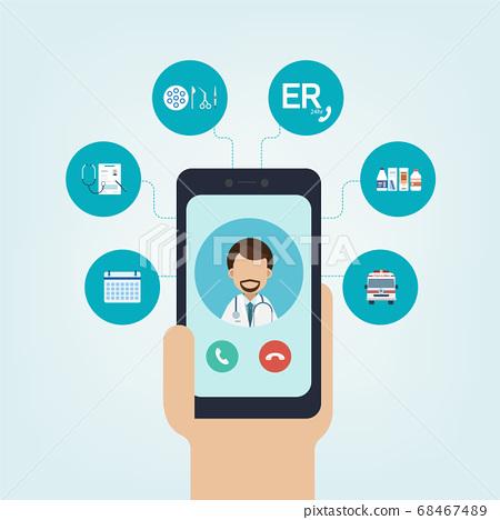 Online Doctor concept 68467489