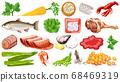 Set of fresh food ingredients 68469319