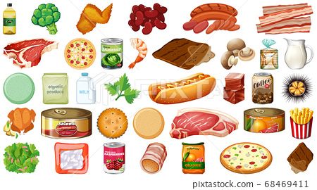 Set of food isolated 68469411
