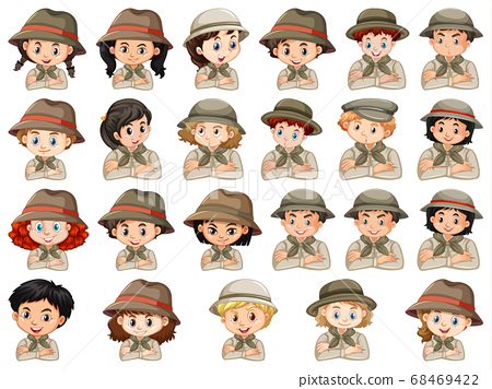 Set of different characters of boys and girls 68469422