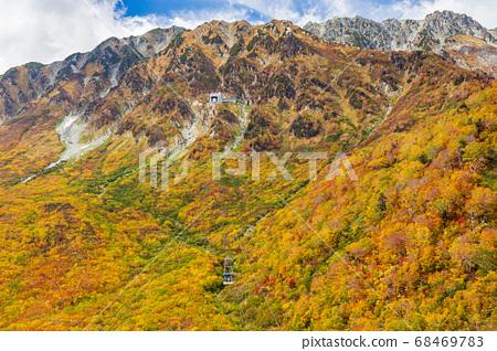 Autumn leaves Tateyama Kurobe Alpine Route, Daikanbo 68469783