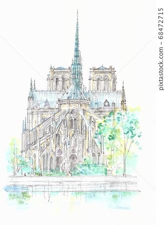 세계 유산의 거리 · 프랑스 · 파리 노트르담 대성당 68472715