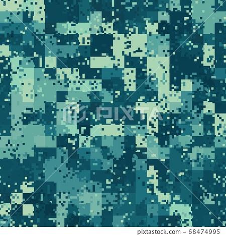 Seamless urban camouflage pattern. The pixel pattern in the foreground 68474995