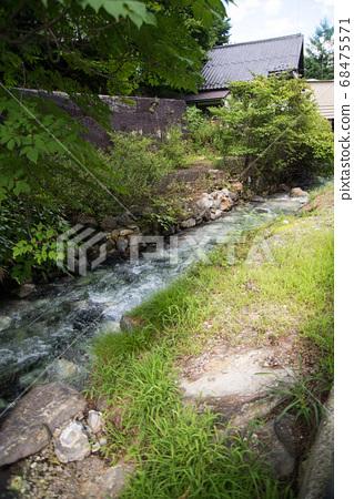 """日本拥有最大水量的""""草津温泉""""是分布在海拔1200 m的高山温泉。 68475571"""