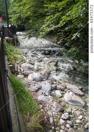 """日本拥有最大水量的""""草津温泉""""是分布在海拔1200 m的高山温泉。 68475572"""