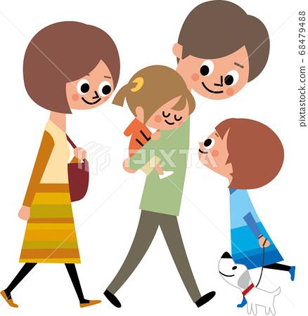 가족 산책 68479488