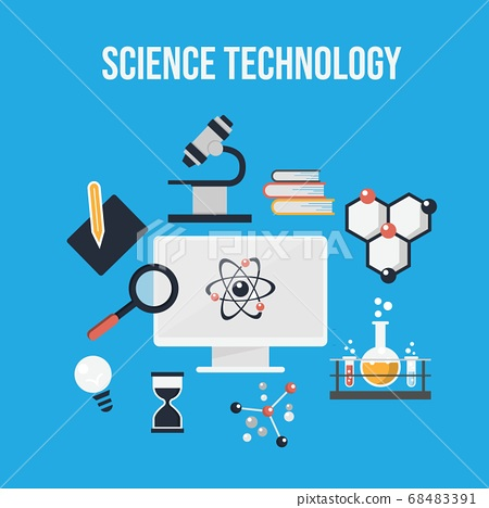 Flat design concept of science and technology 68483391