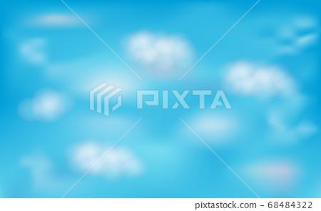 Mesh clear sky blue. 68484322