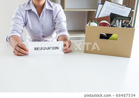 Stress of business woman employee intend to 68487534