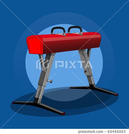 Pommel horse, vaulting horse. Sport gym equipment 68488883