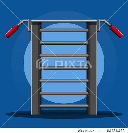 Gymnastics wall bars. Sport equipment. Vector icon 68488893