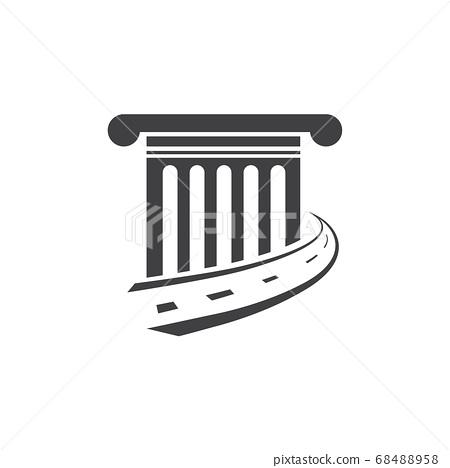Law way logo design vector 68488958