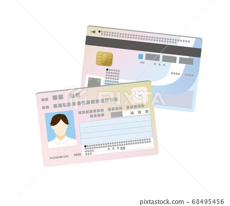 我的號碼卡雙面插圖與人的形象 68495456