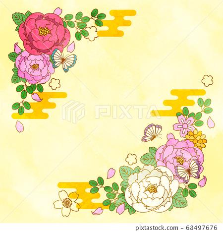 일본 꽃 일러스트 소재 68497676