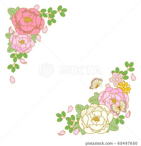 日本花卉插圖素材 68497680