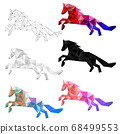 Set of horse polygon geometric. Vector illustration. 68499553