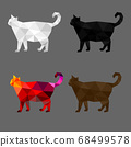 Set of cat polygon geometric. Vector illustration. 68499578