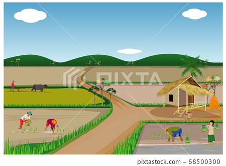 lifestyle of people at countryside vector design 68500300