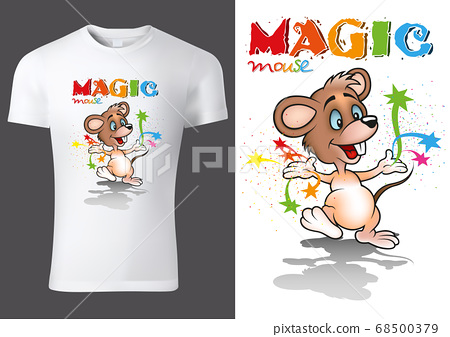 T-shirt Design with Cartoon Mouse 68500379
