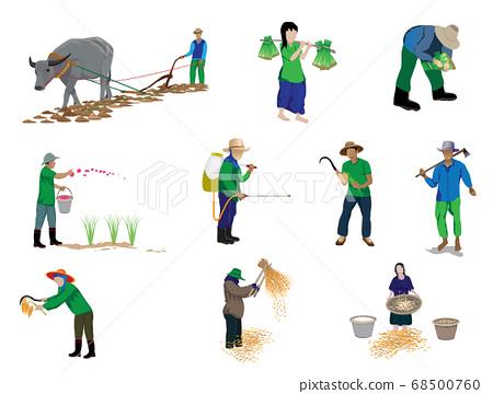 farmer cartoon shape vector design 68500760