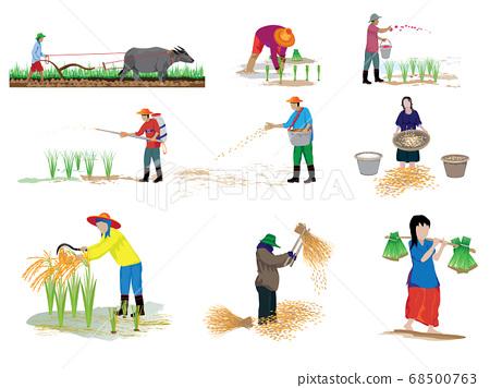 farmer cartoon shape vector design 68500763