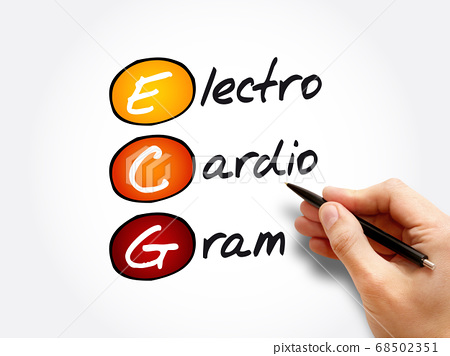 ECG - electrocardiogram acronym, concept 68502351