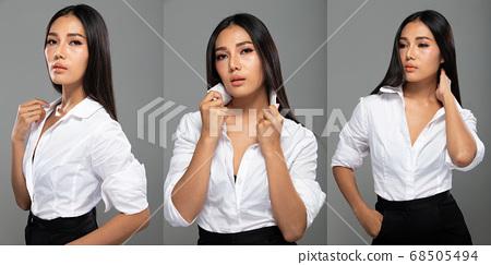 Fashion Portrait Profile Asian Woman fashionable 68505494