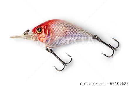 Fishing lure on white 68507628