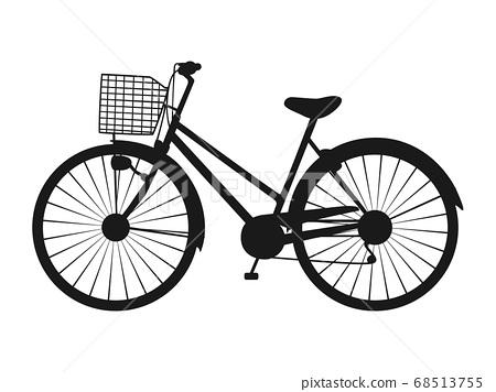 자전거 실루엣 아이콘 68513755