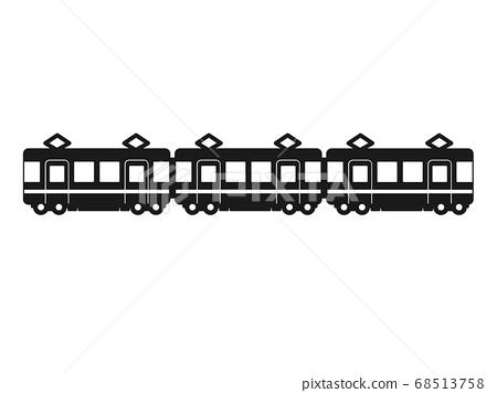 火車剪影圖標 68513758