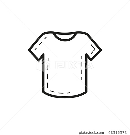 T-shirt outline icon isolated on white background 68516578
