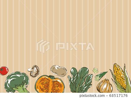 時尚蔬菜素描圖背景 68517176
