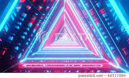 Sparkling Reflective Luster Spectrum 4k uhd 3d illustration background 68517860