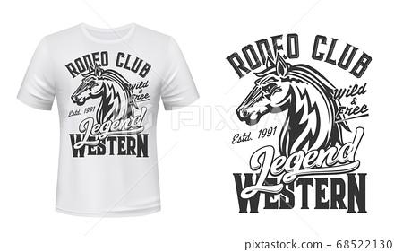 Horse mustang mascot t-shirt print vector stallion 68522130