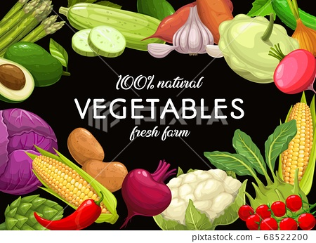 Vegetables food, green organic carrot and pepper 68522200