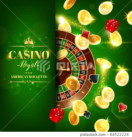 Casino roulette wheel, dice online gambling games 68522228