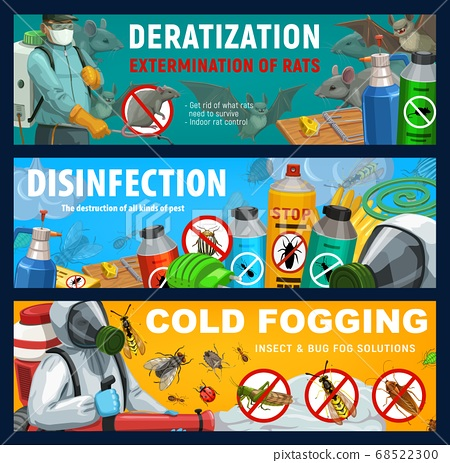 Pest control banners, disinfection, deratization 68522300