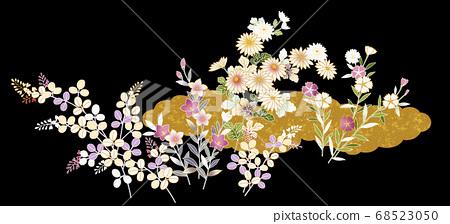 일본식 디자인 소재 (꽃) 68523050